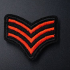 Militaire 3 ailes rouge