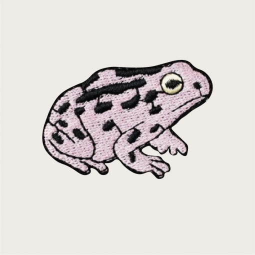 patch grenouille rose pastel